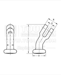 300 7009 elephant Foot Hook Clevis Type  drawing