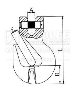 300 1236 Shortening Grab Clevis Hook Commercial Type G80 drawing