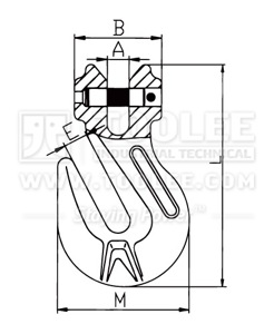 300 1238 Shortening Grab Clevis Hook Italy Type G80 drawing