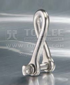 300 5707 Stainless Steel Twisted Shackle With Screw Pin