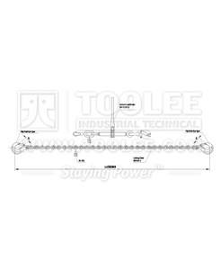 300 7221 Load Lashing Chain System LLB Type Drawing
