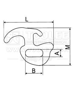 300 1338 Hook R Type drawing