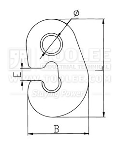 300 1407 G Hook Plate Type drawing