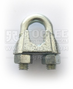 300 2104 Wire Rope Clip US Type GALV Malleable