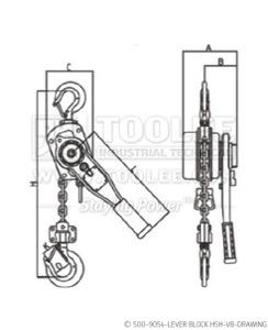 300 500 9054 lever Block HSH VB Drawing WM
