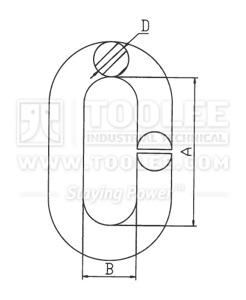 300 1409 Split Link drawing