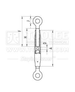 300 6331 Turnbuckle DIN1478 Eye Eye Drawing