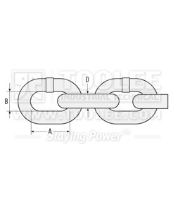300 1001 G80 Lifting Short Chain EN818 2 drawing