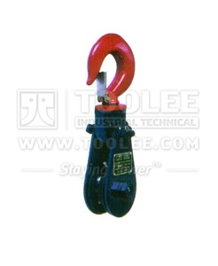 300 2810 11 Light Champion Snatch Block With Hook Single Sheave 418