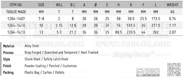 1264 Shank Hook DATA