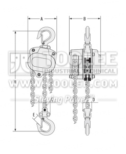 300 9002 Chain Block HSZ V Drawing