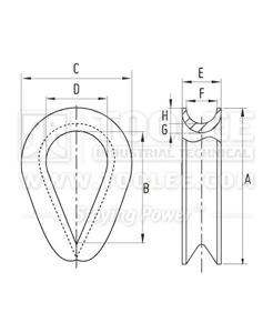 300 2206 Thimble G414 Extra Heavy DRAWING