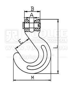 300 1256 Container Hook drawing