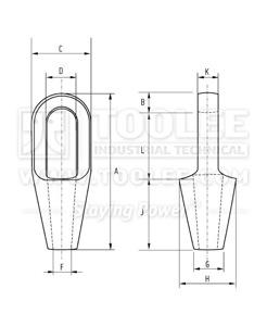 300 2402 Closed Spelter Socket DRAWING