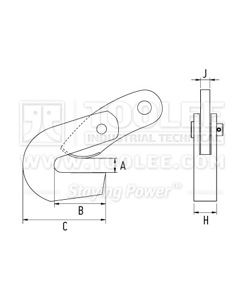 300 9201 L Type Horizontal Plate Lifting Clamp DHQL Model Drawing