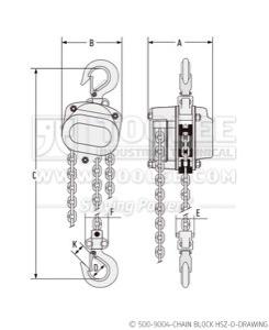 300 500 9004 Chain Block HSZ D Drawing WM