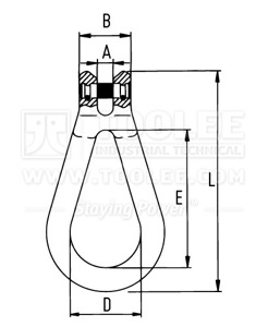 300 1607 Clevis Reeving Link drawing