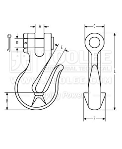 300 1320 Grab Hook Cradle Type Australia G70 with Supporting Lugs Drawing