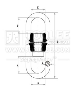 300 1461 Trawling Swivel Stainless Steel Drawing