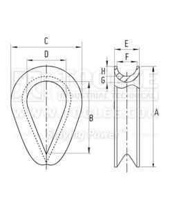 300 2205 Thimble G411 DRAWING