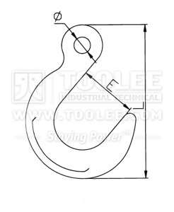 300 1247 Foundry Hook Eye Type G80 drawing