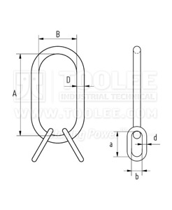 300 1514 Master Link Assembly MTC Light Drawing