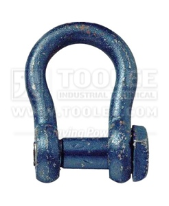 300 1123 Trawling Shackle Bow Type oversize pin Square Head Paint Blue