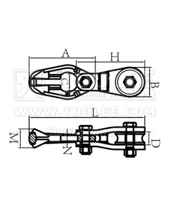 300 2880 Hook and Pulley for Logging Drawing