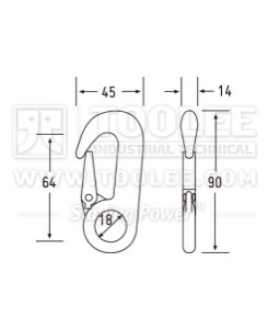 300 500 3216 Rope Hook Drawing WM