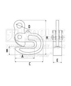 300 9215 DFM Type Turning Lifting Clamp Drop Forged Drawing
