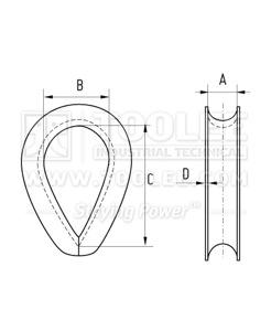 300 5512 Thimble US G 414 Extra Heavy Duty Type drawing