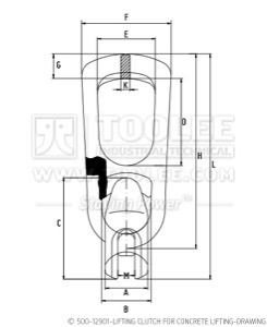 300 500 12901 Lifting Clutch for Concrete Lifting Drawing WM