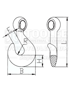 300 1260 Hook Twisted Type for Lumber Drawing