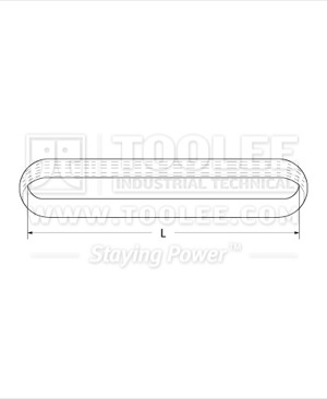 300 3511 Polyester Endless Webbing Sling Drawing