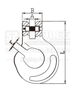 300 1248 Forest Hook Clevis Type G80 drawing