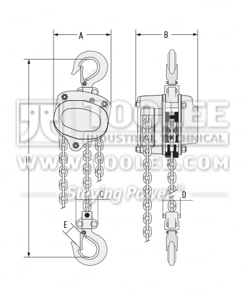 300 9001 Chain Block HSZ A Drawing