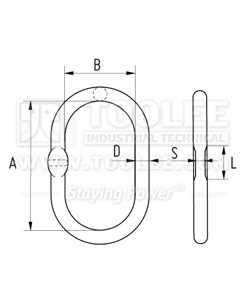 300 1502 Master Link DIN5688 A343 drawing