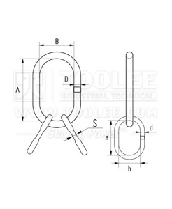 300 1516 Multi Master Link Assembly with Flat Welded Type Drawing