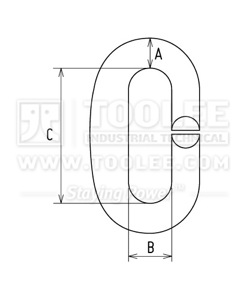 300 1414 Split C Link Stainless Steel Drawing