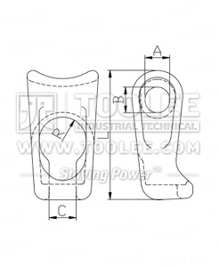 300 1804 Logging Choker Cast Steel Drawing