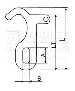 300 1339 Hook T J Type drawing