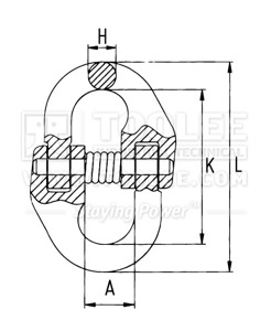 300 1603 Connecting Link A337 drawing