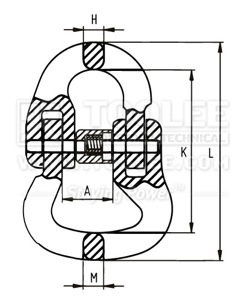 300 1605 Connecting Link For Round Sling drawing