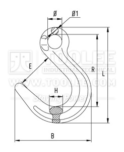 300 1252 Eye Foundry Hook New Type G80 drawing