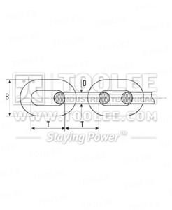300 1011 DIN766 Short Link Chain Drawing