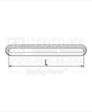 300 3611 Polyester Endless  Round Sling Drawing