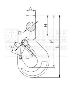 300 1264 Shank Hook Drawing
